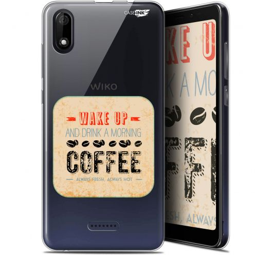 """Extra Slim Gel Wiko Y60 (5.45"""") Case Design Wake Up With Coffee"""