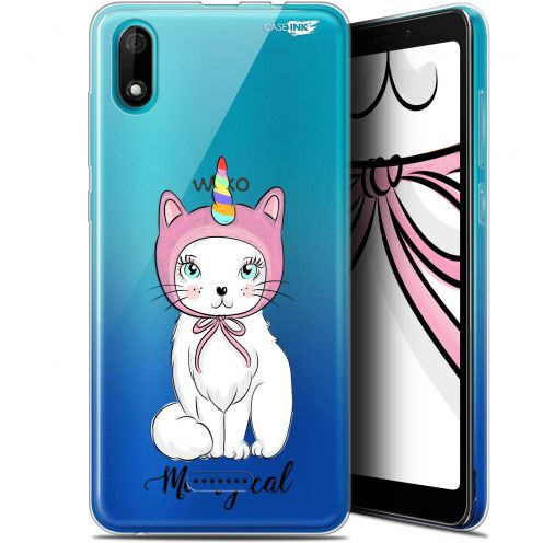 """Extra Slim Gel Wiko Y60 (5.45"""") Case Design Ce Chat Est MEOUgical"""