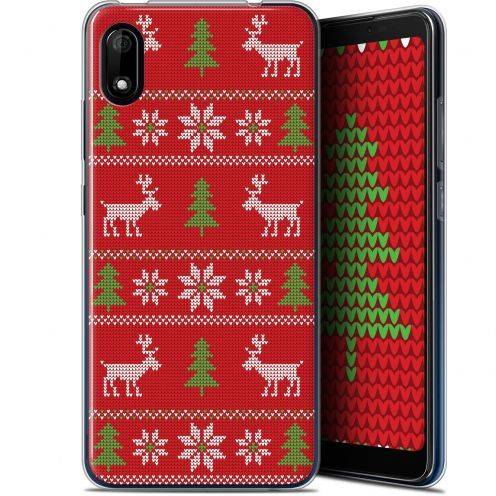"Extra Slim Gel Wiko Y70 (5.99"") Case Noël 2017 Couture Rouge"
