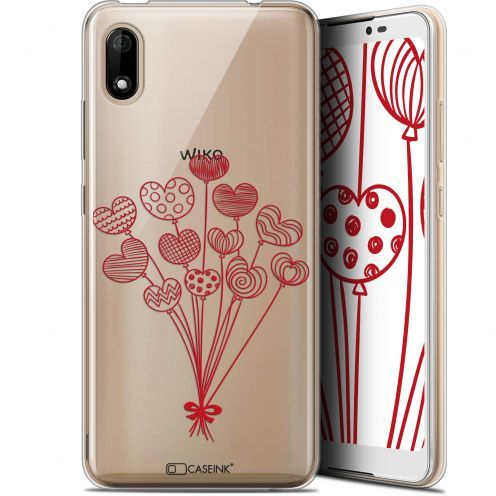 "Extra Slim Gel Wiko Y70 (5.99"") Case Love Ballons d'amour"