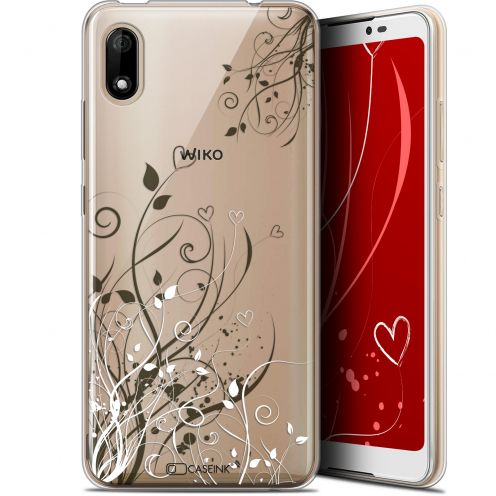 "Extra Slim Gel Wiko Y70 (5.99"") Case Love Hearts Flowers"