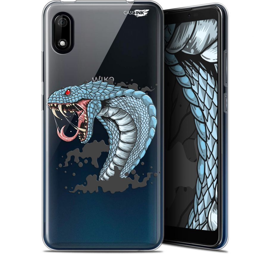 "Extra Slim Gel Wiko Y70 (5.99"") Case Design Cobra Draw"
