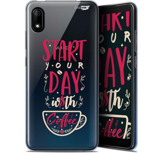 "Extra Slim Gel Wiko Y70 (5.99"") Case Design Start With Coffee"