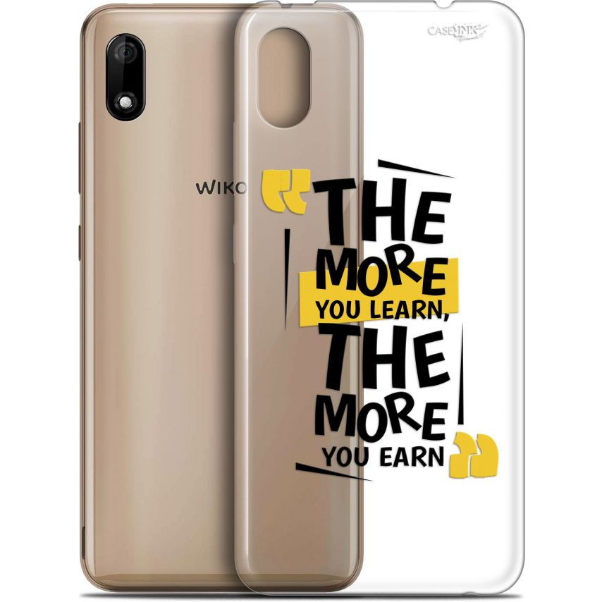 "Extra Slim Gel Wiko Y70 (5.99"") Case Design The More You Learn"