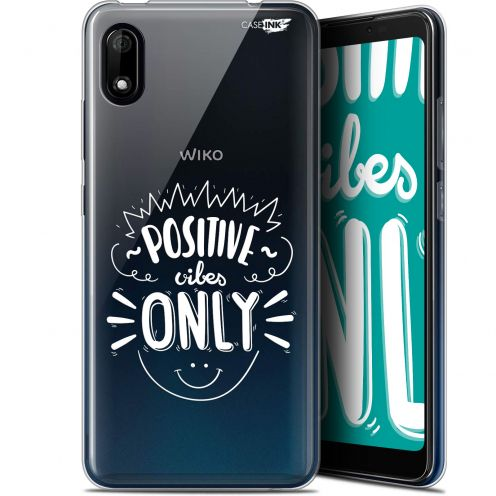 "Extra Slim Gel Wiko Y70 (5.99"") Case Design Positive Vibes Only"