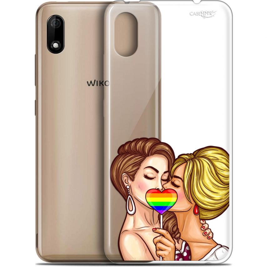 "Extra Slim Gel Wiko Y70 (5.99"") Case Design 2 Girls 1 Candy"