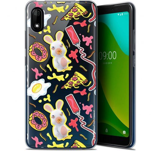 "Gel Wiko Y70 (5.99"") Case Lapins Crétins™ Egg Pattern"