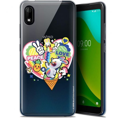 "Gel Wiko Y70 (5.99"") Case Lapins Crétins™ Peace And Love"