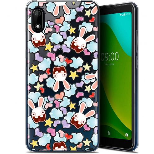 "Gel Wiko Y70 (5.99"") Case Lapins Crétins™ Love Pattern"