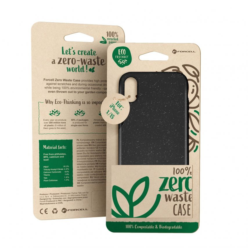 Biodegradable ZERO Waste case for Huawei Y5 2019 black