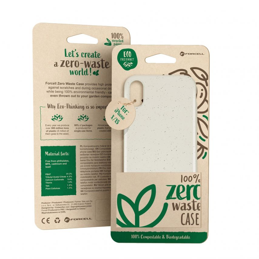 Biodegradable ZERO Waste case for Huawei Y5 2019 nature