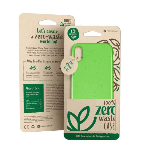 Biodegradable ZERO Waste case for Huawei Y5 2019 green