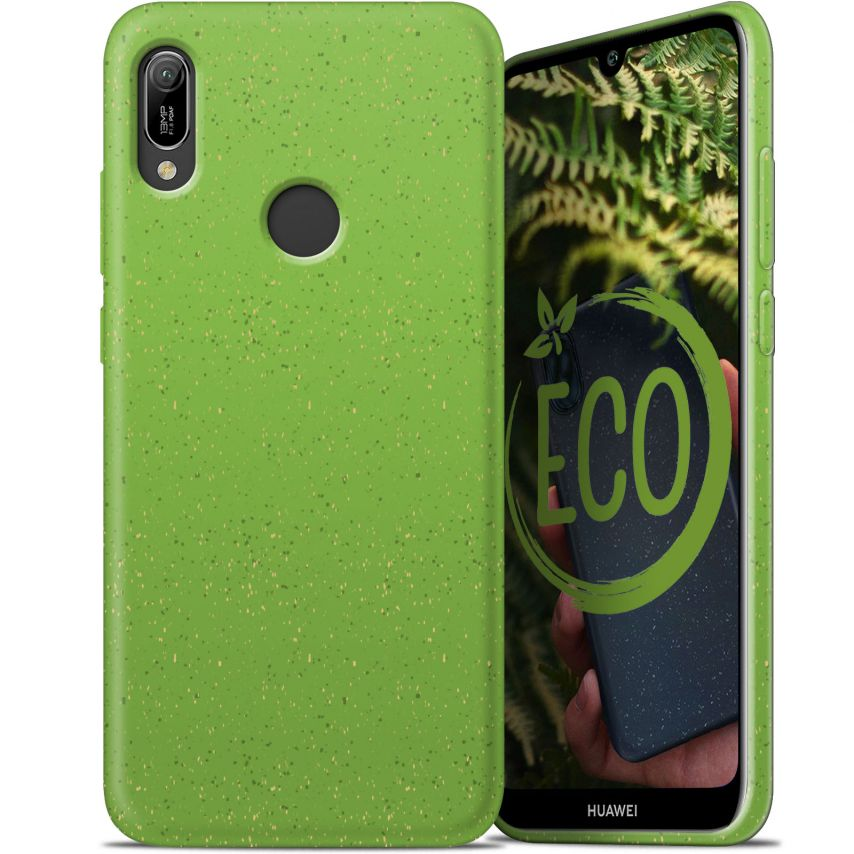 Biodegradable ZERO Waste case for Huawei Y6 2019 green
