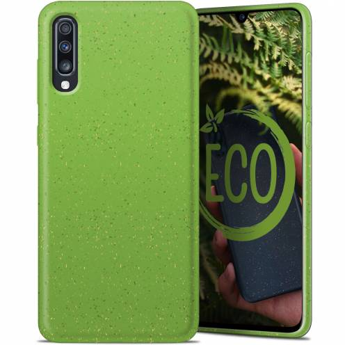 Biodegradable ZERO Waste case for Samsung Galaxy A70 green