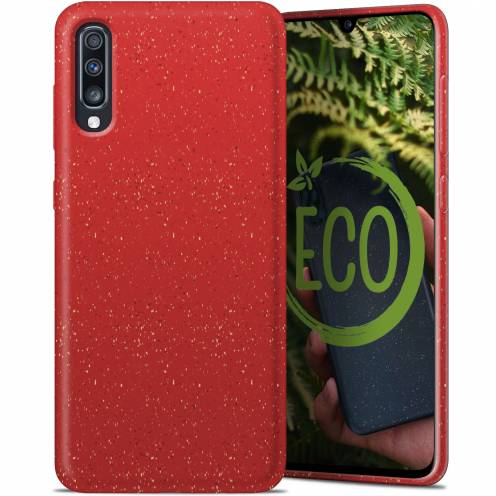 Biodegradable ZERO Waste case for Samsung Galaxy A70 red