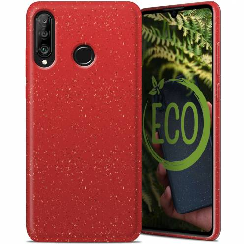 Biodegradable ZERO Waste case for Huawei P30 Lite red