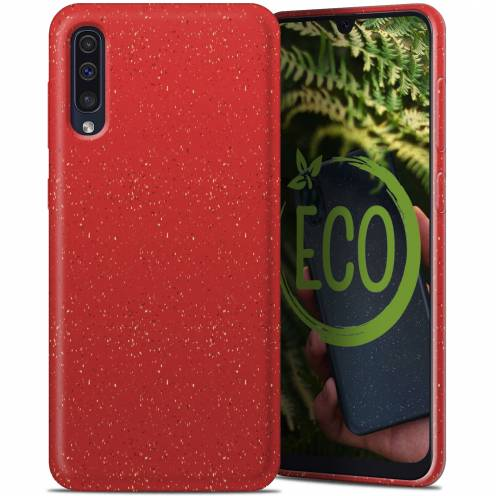 Biodegradable ZERO Waste case for Samsung Galaxy A30S / A50 / A50S red