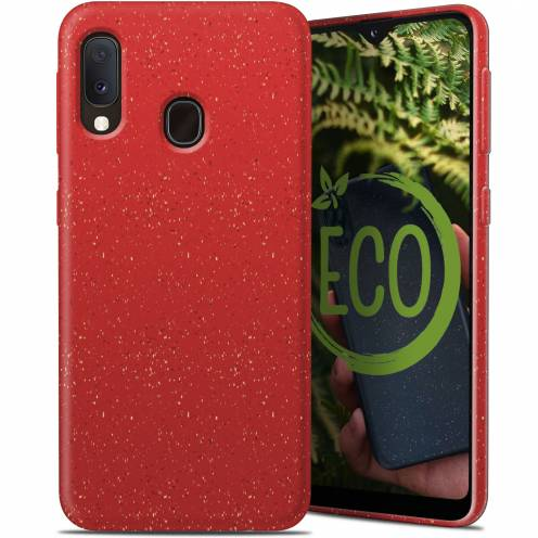 Biodegradable ZERO Waste case for Samsung Galaxy A20E red