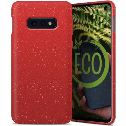 Biodegradable ZERO Waste case for Samsung Galaxy S10e red