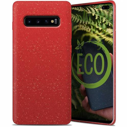 Biodegradable ZERO Waste case for Samsung Galaxy S10 Plus red