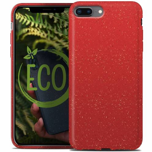Biodegradable ZERO Waste case for iPhone 7 Plus / 8 Plus red