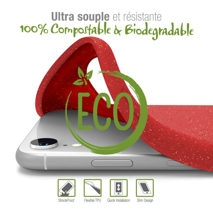 Biodegradable ZERO Waste case for Huawei Y5 2019 red