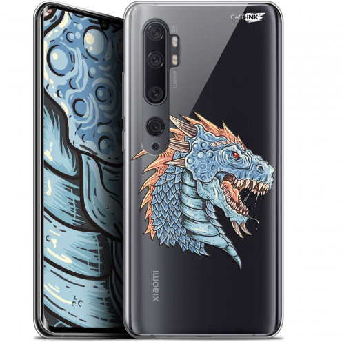 "Extra Slim Gel Xiaomi Mi Note 10 / Pro (6.47"") Case Design Dragon Draw"