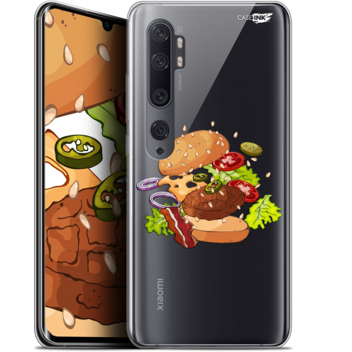 "Extra Slim Gel Xiaomi Mi Note 10 / Pro (6.47"") Case Design Splash Burger"