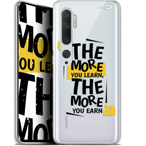 "Extra Slim Gel Xiaomi Mi Note 10 / Pro (6.47"") Case Design The More You Learn"