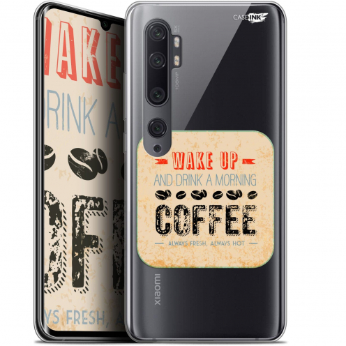 "Extra Slim Gel Xiaomi Mi Note 10 / Pro (6.47"") Case Design Wake Up With Coffee"