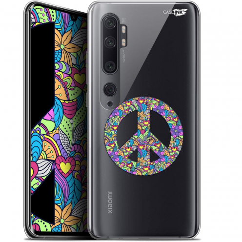 "Extra Slim Gel Xiaomi Mi Note 10 / Pro (6.47"") Case Design Peace And Love"