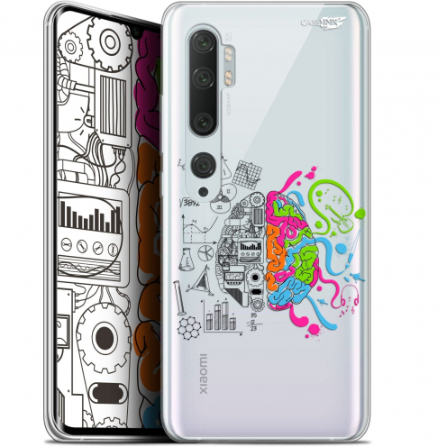 "Extra Slim Gel Xiaomi Mi Note 10 / Pro (6.47"") Case Design Le Cerveau"