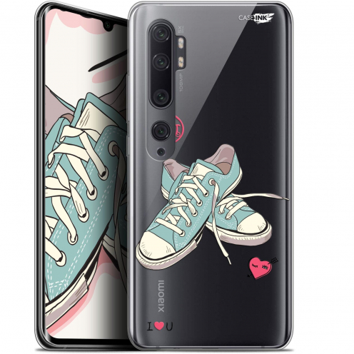 "Extra Slim Gel Xiaomi Mi Note 10 / Pro (6.47"") Case Design Mes Sneakers d'Amour"