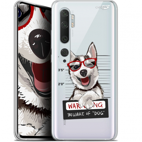 "Extra Slim Gel Xiaomi Mi Note 10 / Pro (6.47"") Case Design Beware The Husky Dog"