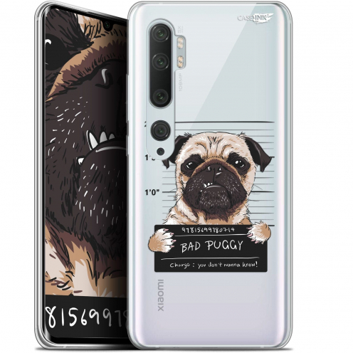 "Extra Slim Gel Xiaomi Mi Note 10 / Pro (6.47"") Case Design Beware The Puggy Dog"