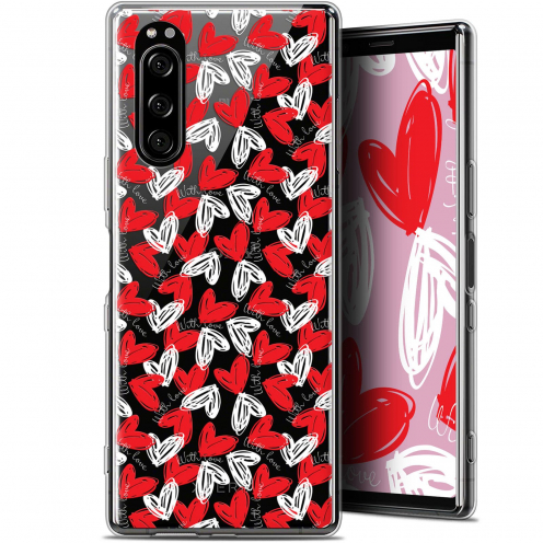 "Extra Slim Gel Sony Xperia 5 (6.1"") Case Love With Love"