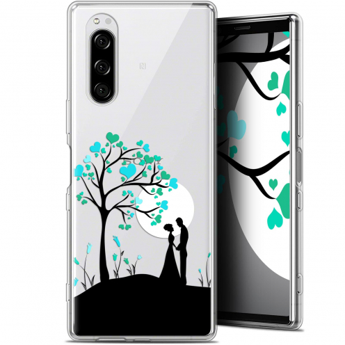 "Extra Slim Gel Sony Xperia 5 (6.1"") Case Love Sous l'arbre"