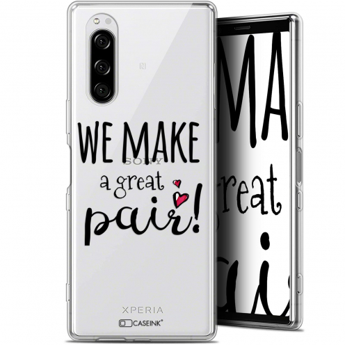 "Extra Slim Gel Sony Xperia 5 (6.1"") Case Love We Make Great Pair"
