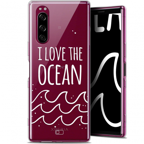 "Extra Slim Gel Sony Xperia 5 (6.1"") Case Summer I Love Ocean"