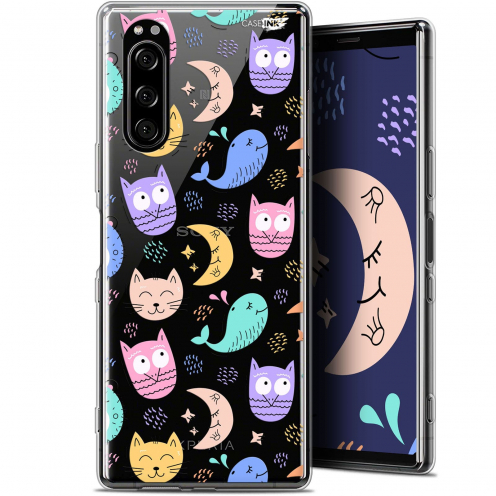 """Extra Slim Gel Sony Xperia 5 (6.1"""") Case Design Chat Hibou"""