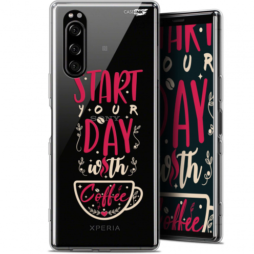 "Extra Slim Gel Sony Xperia 5 (6.1"") Case Design Start With Coffee"