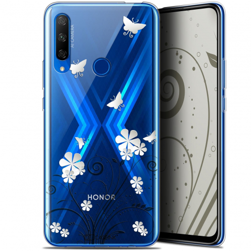 "Extra Slim Gel Huawei Honor 9X (6.59"") Case Summer Papillons"
