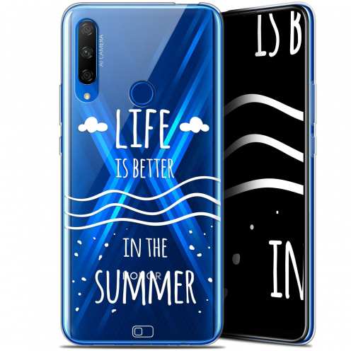 """Extra Slim Gel Huawei Honor 9X (6.59"""") Case Summer Life's Better"""