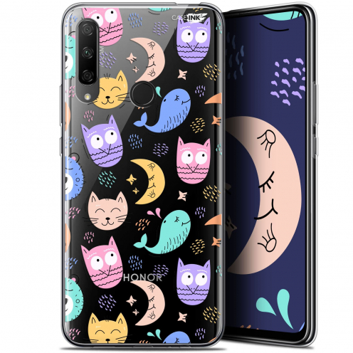 "Extra Slim Gel Huawei Honor 9X (6.59"") Case Design Chat Hibou"