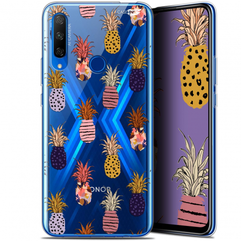 "Extra Slim Gel Huawei Honor 9X (6.59"") Case Design Ananas Gold"