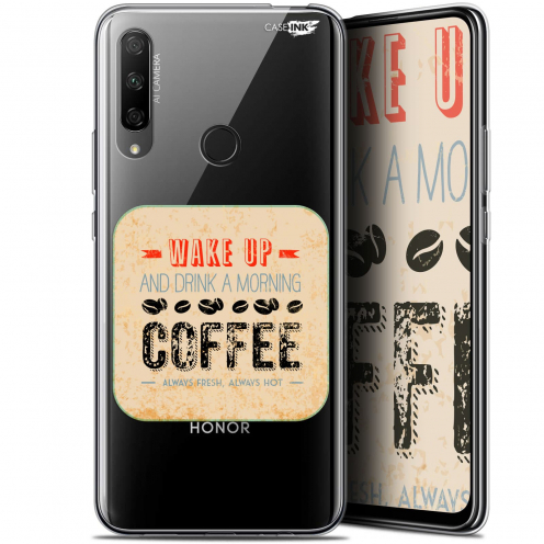 "Extra Slim Gel Huawei Honor 9X (6.59"") Case Design Wake Up With Coffee"