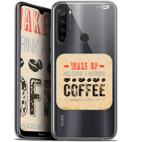 "Extra Slim Gel Xiaomi Redmi Note 8T (6.3"") Case Design Wake Up With Coffee"