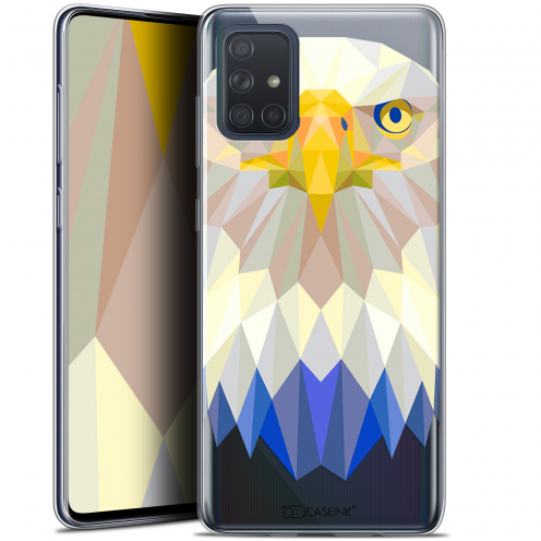 "Extra Slim Gel Samsung Galaxy A71 (A715) (6.7"") Case Polygon Animals Eagle"
