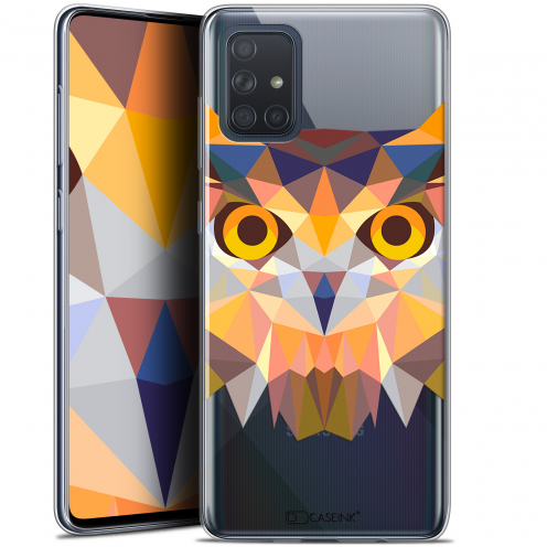"Extra Slim Gel Samsung Galaxy A71 (A715) (6.7"") Case Polygon Animals Owl"