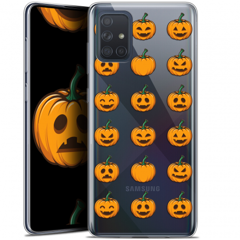 "Extra Slim Gel Samsung Galaxy A71 (A715) (6.7"") Case Halloween Smiley Citrouille"